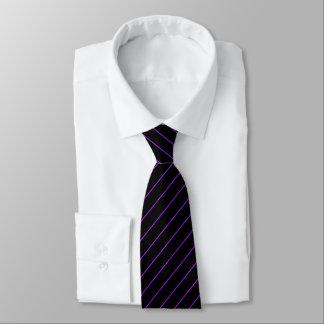 Black and Purple Pinstripe, Double Tie