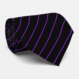 Black and Purple Pinstripe Tie