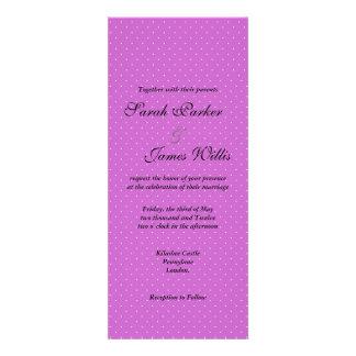 Black and purple Polka party wedding invite