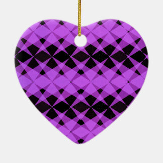 Black and purple stars pattern christmas ornament