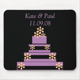 Black and Purple Wedding Cake Mouse Mat