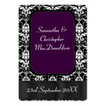 Black, and purple wedding favour thank you tag pack of chubby business cards
