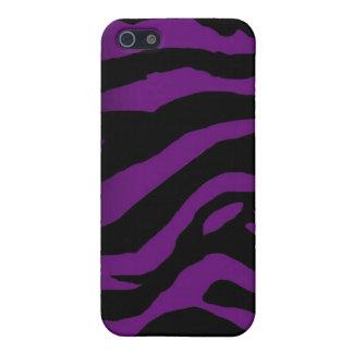 Black and Purple Zebra Stripes iPhone Case iPhone 5 Covers