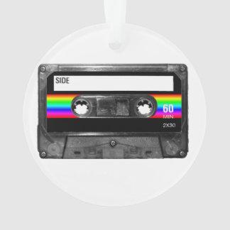Black and Rainbow Stripe Label Cassette