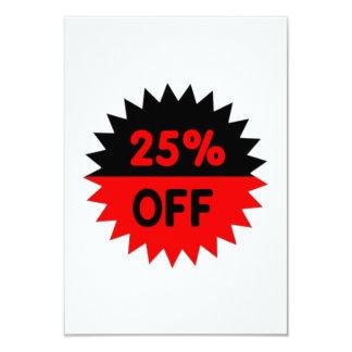 Black and Red 25 Percent Off 9 Cm X 13 Cm Invitation Card