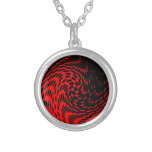 Black and Red Abstract Design Necklace
