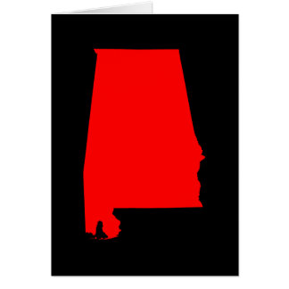 Black and Red Alabama Card