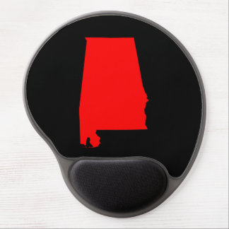 Black and Red Alabama Gel Mouse Mat