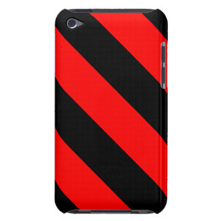 Black And Red Barber Stripes Barely There iPod Case