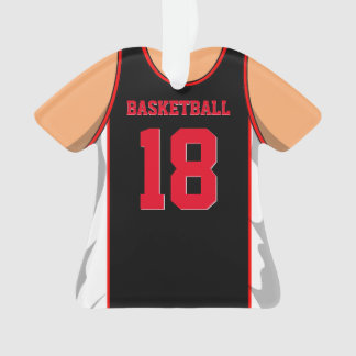 Black and Red Basketball