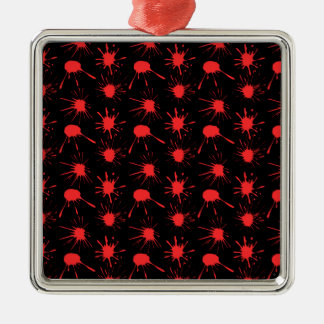 Black and Red Blood Splatters Pattern Ornament
