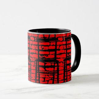 Black And Red Brick Wall Mug