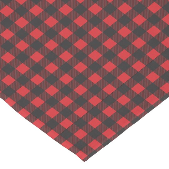 Black and Red Buffalo Check Plaid Short Table