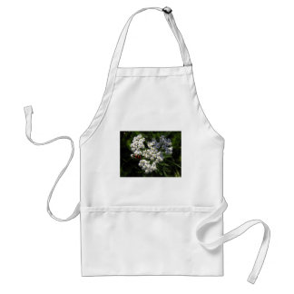 Black and Red Bug on White Flower Standard Apron