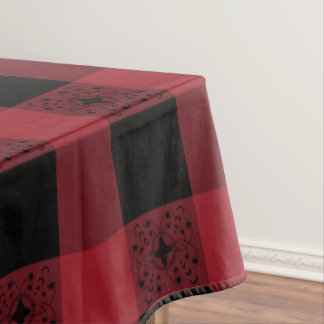 Black And Red Celtic Plaid Tablecloth