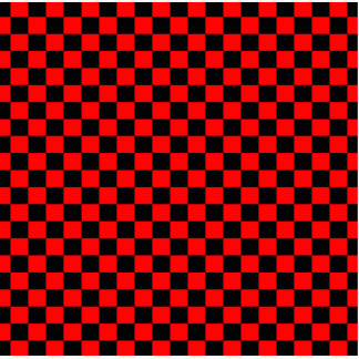 Black and Red Checkerboard Pattern Standing Photo Sculpture