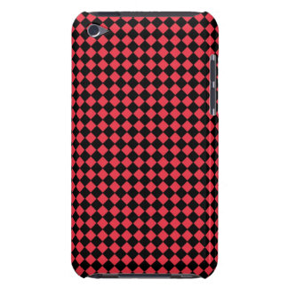 Black and Red Checkered Barely There iPod Case