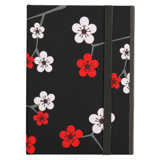 Black and Red Cherry Blossom Print iPad Air Covers