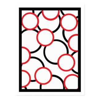 Black and Red Circles Postcard