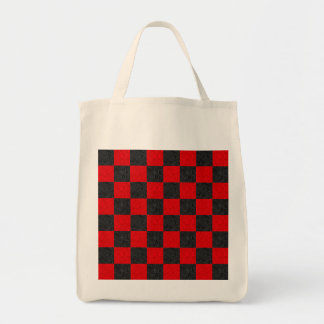 Black and Red Classic Checkerboard Tote