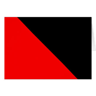 Black and Red diagonal flag Greeting Cards