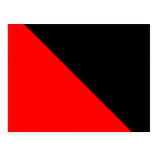 Black and Red diagonal flag Postcard