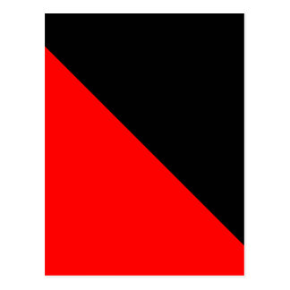 Black and Red diagonal flag Postcard