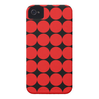 BLACK AND RED DIAMONDS iPhone 4 COVERS