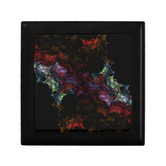 Black and red fractals jewelry boxes