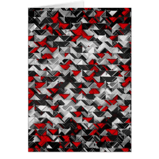 Black and Red Geometric Explosion Card