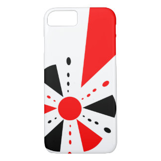 Black and red geometry case