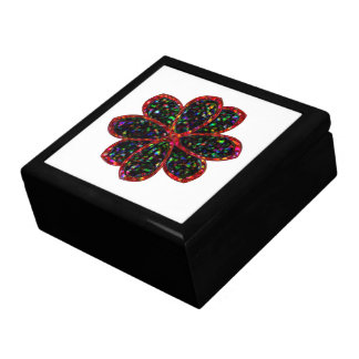Black and Red Glitetr Flower Gift Box