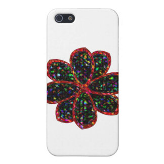 Black and Red Glitter Flower  iPhone 5 Covers