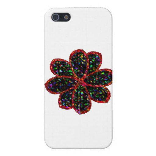 Black and Red Glitter Flower iPhone Case Cover For iPhone 5