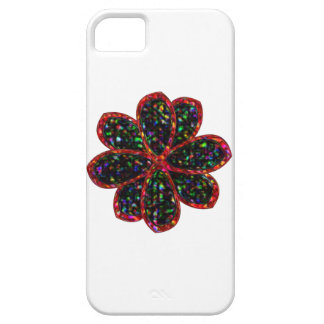 Black and Red Glitter Flower iPhone Case iPhone 5 Covers