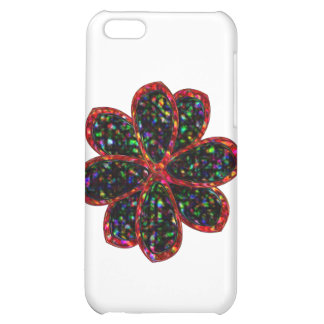Black and Red Glitter Flower  iPhone 5C Cover