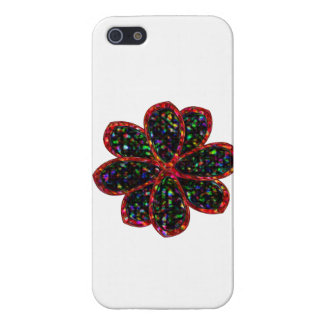 Black and Red Glitter Flower iPhone Case iPhone 5 Case