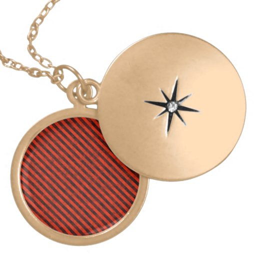 Black and Red Hazard Striped Pendants