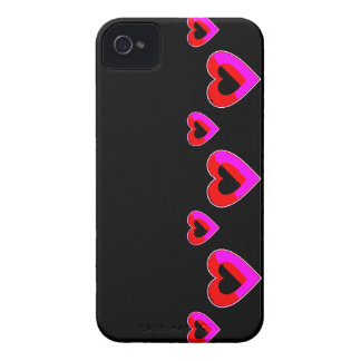 Black and red Hearts BlackBerry Bold Case-Mate