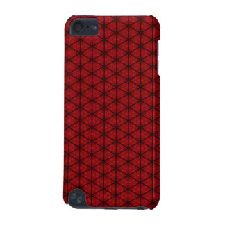 Black and Red Hexagon iPod Touch 5G Covers