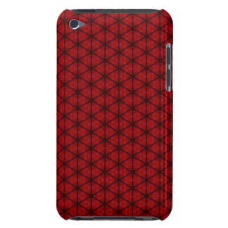 Black and Red Hexagon iPod Touch Case-Mate Case