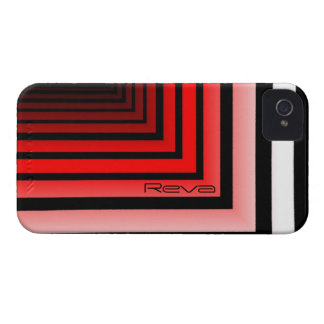 Black and Red iPhone 4 cover of Reva