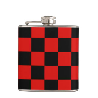 Black and red - Italian football club - Milan Hip Flask