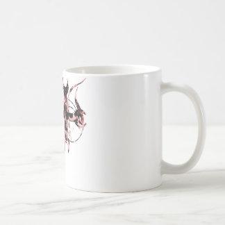 Black and Red Moon Cross Basic White Mug