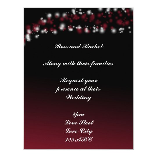 Black and red ombre invitations