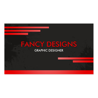 Black and Red Pack Of Standard Business Cards