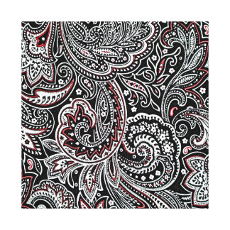 black and red paisley nursing art wrapped canvas gallery wrap canvas