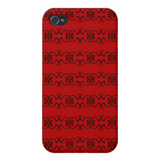Black and Red Phone case with design iPhone 4 Covers