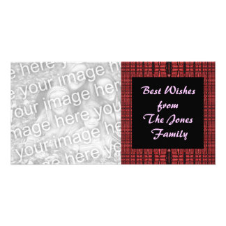 black and red photo greeting card