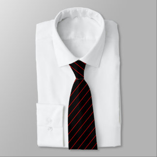 Black and Red Pinstripe, Double Tie